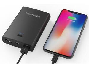 RAVPower Basis Series Dual USB Port 10400mAh Portable Charger Power Bank (Black)