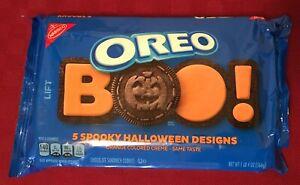 Nabisco OREO Cookies BOO! 2019 SPOOKY HALLOWEEN 5 Designs 20 OZ package - orange