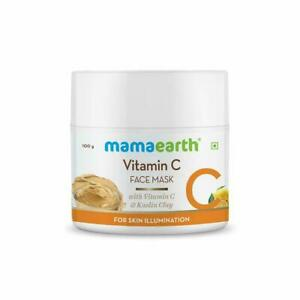 Mamaearth Vitamin C Face Mask with Kaolin Clay For Skin Illumination -100 g