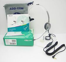 ADD100 HEADSET + ADDQD-07 3.5mm Cable for Alcatel 4028 4029 4038 8029 8038 IP