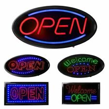 Open Busines Signs Animated Motion Led Neon Light Restaurant w/On Off Switch