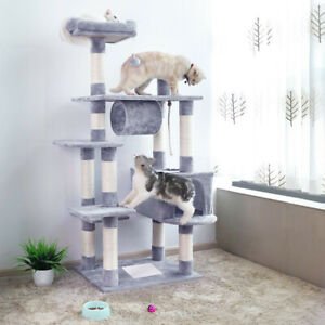 157Large CatTree Climbing Tower Kitten Scratcher Scratching Post Activity Centre