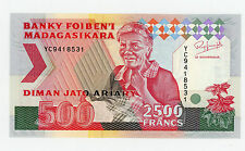 Madagascar … P-72Aa … 2,500 Francs … ND(1993) … *UNC*