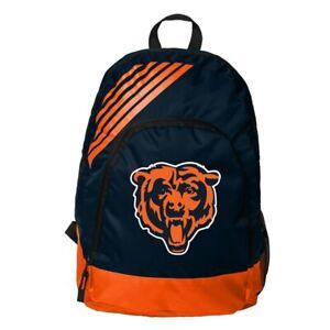 Chicago Bears Football Team Logo NFL Border Stripe Backpack School Gym Bag