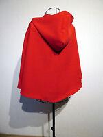 Rotkäppchen roter Umhang m. Kapuze Kostüm Cape Fasching Kapuzenumhang