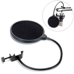 Dual Black Layer Record Studio Microphone Mic Windscreen Pop Filter Mask Shield