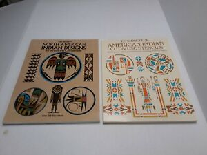 Indian Designs And Cut And Use Stencil - Dover Book Lot of 2 - Wilson / Sibbett