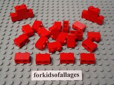 25 Lego 1x2 Bricks with Grill Profile Red Castle House Wall Car Grille Parts