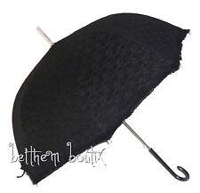 Goth : Parapluie Ombrelle Cloche & Canne Dentelle NOIR Manga Lolita Gothique