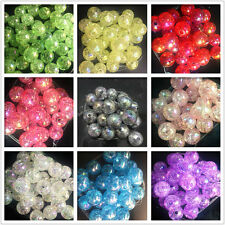 10/100/1000pcs Crackle Glass Round 12mm Beads Jewelry Findings Craft Bead Supply