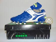 Vintage 80 90 DIADORA Dual MD PU 40 Scarpe Calcio 6 Soccer Boots Italy 12 Studs