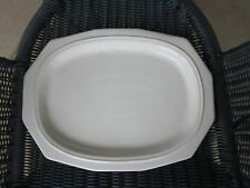 """Pfaltzgraff Heritage Large Serving Platter 12 Sided Oval Plate 14-1/4"""" x 10-3/4"""""""