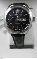 Versace Men's VQI010015 DYLOS Automatic Day Black Leather Day/date Swiss Made