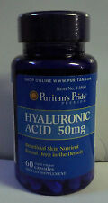 Puritan Pride Hyaluronic Acid 50 mg *Lubricates Joint* Pain Free Relief 60 CAPS