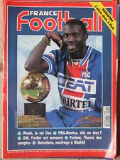 France Foot N°2544 (10 janv 1995) Weah - PSG-Nantes - OM - Furiani - Barcelone
