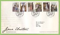 G.B. 2013 Jane Austen set on Royal Mail on First Day Cover, Basingstoke