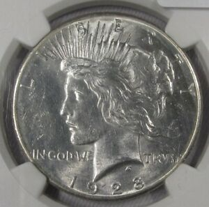 1928  Silver Peace Dollar NGC MS 62 Certified Coin AG971