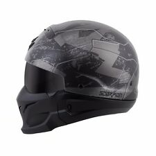 *SHIPS SAME DAY* Scorpion Covert Motorcycle Helmet 3 in 1 (Black, White, Camo)
