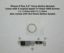 """iPhone 8 PLUS 8+ 5.5"""" HOME BUTTON METAL PLATE BRACKET AND SCREW SET"""