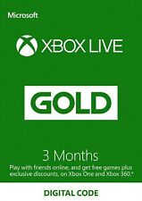 Xbox Live Gold 3 Months Key Xbox One - Global - 84 Days -  Read Description