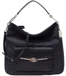 RARE!!! -  Coach Madison Op Art Pearlescent Hobo Bag black - LAST ONE!!!