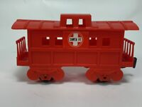 Vintage Durham's Freight Train Set Replacement Piece Red Sante Fe Caboose #8813