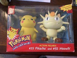 Pokemon Hasbro Action Figures #25 Pikachu & #53 Meowth MIB