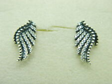 NEW! AUTHENTIC PANDORA EARRINGS  MAJESTIC FEATHERS  #290581CZ  P