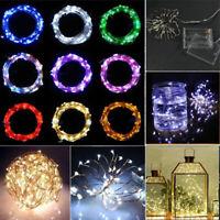 Sn _ 4.5V 2M/3M/4M Romantique Mini LED Cuivre Câble Corde Fairy Lumières