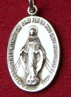 Carmelite Nuns RARE Lourdes Pilgrimage Sterling Catholic Miraculous Rosary Medal