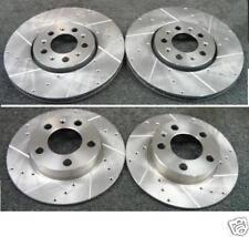 AUDI A1 1.4 TFSi FRONT REAR DRILLED GROOVED BRAKE DISCS 288mm and 232mm