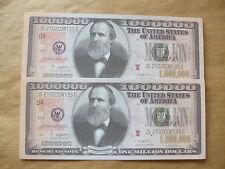 2   X   NOVELTY  $1  MILLION  DOLLAR  NOTES.