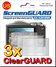 3x Clear LCD Screen Protector Guard Cover for Olympus Camera SZ-31MR SZ-31 MR