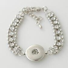 Bracelet Magnolia Vine Jewelry 18mm Charm Fits Ginger Snap Ginger Snaps Silver