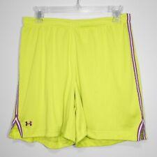 "Under Armour Heat Gear Skill Mesh Neon Green 6"" Running Shorts  - M"