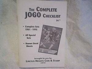 1995 THE COMPLETE JOGO CHECKLIST RARE BOOKLET,1981-95,Warren Moon Cover,edmonton