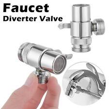 Faucet Adapter Diverter Valve Water Tap Connector Kitchen Sink Splitter