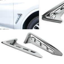 Side Fender Vent Air Wing Cover Trim Chrome ABS Decoration Fit BMW X3 G01 2018