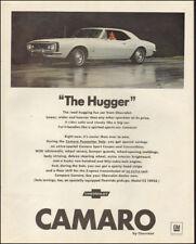 "1965 Vintage ad for Camaro`The ""Hugger"" retro car white Chevrolet  (062318)"