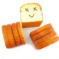 Eg _ Am _ Géant Tranche Toast Joyeux Visages Doux Écrasable Pain Portable Cart