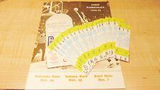Indiana State Vs. Utah State Basketball 1972 Coach Stauffer Full Ticket Lot Of21