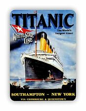 Titanic White Star Line Movie Poster METAL SIGN PLAQUE Vintage Retro Advert