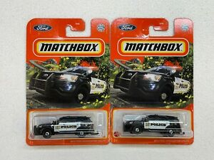 MATCHBOX 2021 2016 FORD INTERCEPTOR UTILITY POLICE COLLECTOR NO. 65/100 LOT OF 2