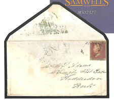 MS2327 1856 GB IRELAND Green *PASSAGE WEST* Cork Receiver Penny Red Cover Herts