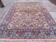 Antique Traditional Persian Wool Cream Oriental Hand Made Big Carpet 297x236cm