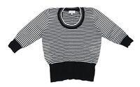 Debenhams Womens Size 14 Striped Cotton White Top (Petite)