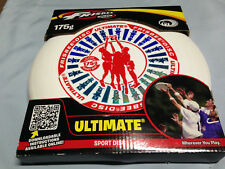 White Red and Blue Hologram Wham-O Ultimate Frisbee Sport Disc 175g