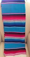 "Sarape Style Falsa Blanket Classic Mexican Serape Throw 80"" X 60"" New!"