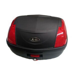 Secure Latch 52L Motorcycle Scooter Topbox Rear Storage Luggage Top Box | New