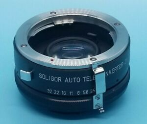 SOLIGOR AUTO Tele Converter 2X to fit Minolta SLR CAMERA LENS
